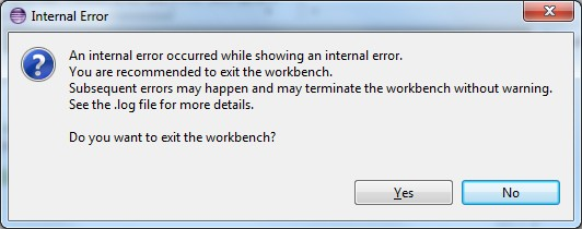 internalerror eclipse